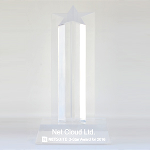 Netsuite 3 Star Award for 2016
