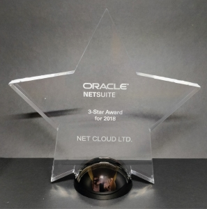 Netsuite 3 Star Award for 2018